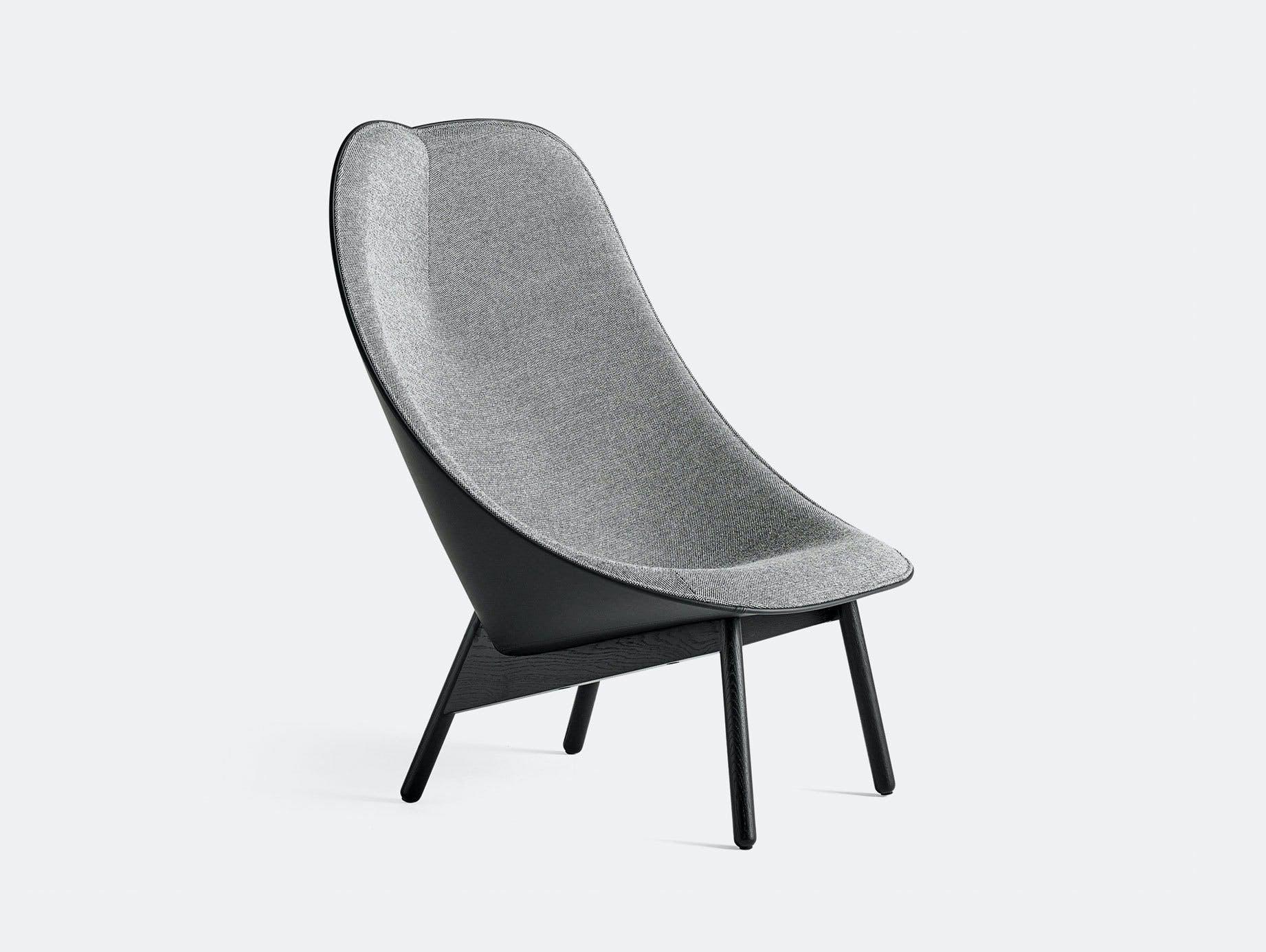 Hay Uchiwa Lounge Chair Hallingdal 166 black base Doshi Levien