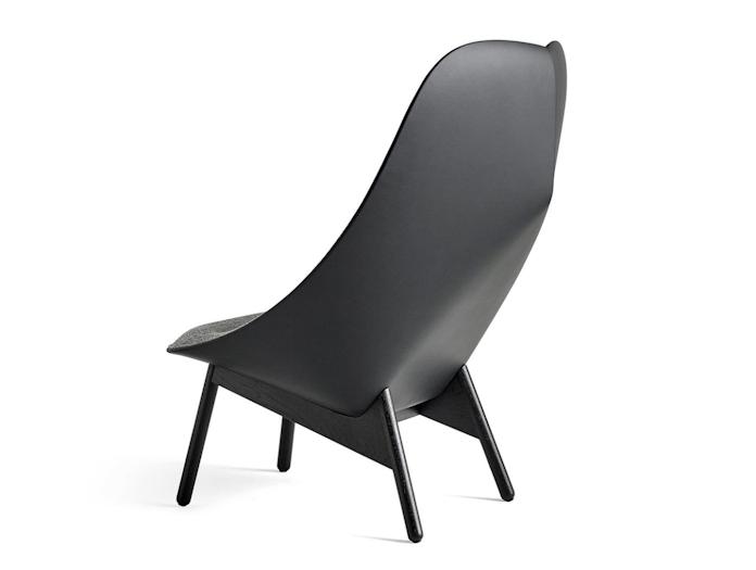 Hay Uchiwa Lounge Chair Sierra leather back Hallingdal 166 black base Doshi Levien
