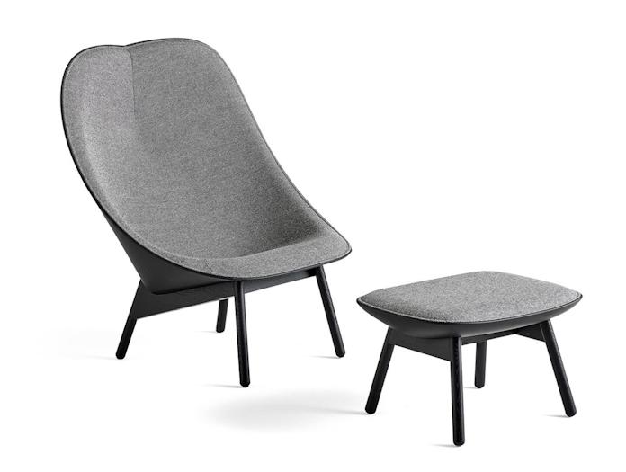 Hay Uchiwa Lounge Chair and Ottoman Doshi Levien