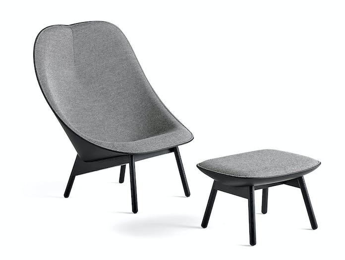 Hay Uchiwa Lounge Chair and Ottoman Doshi Levien