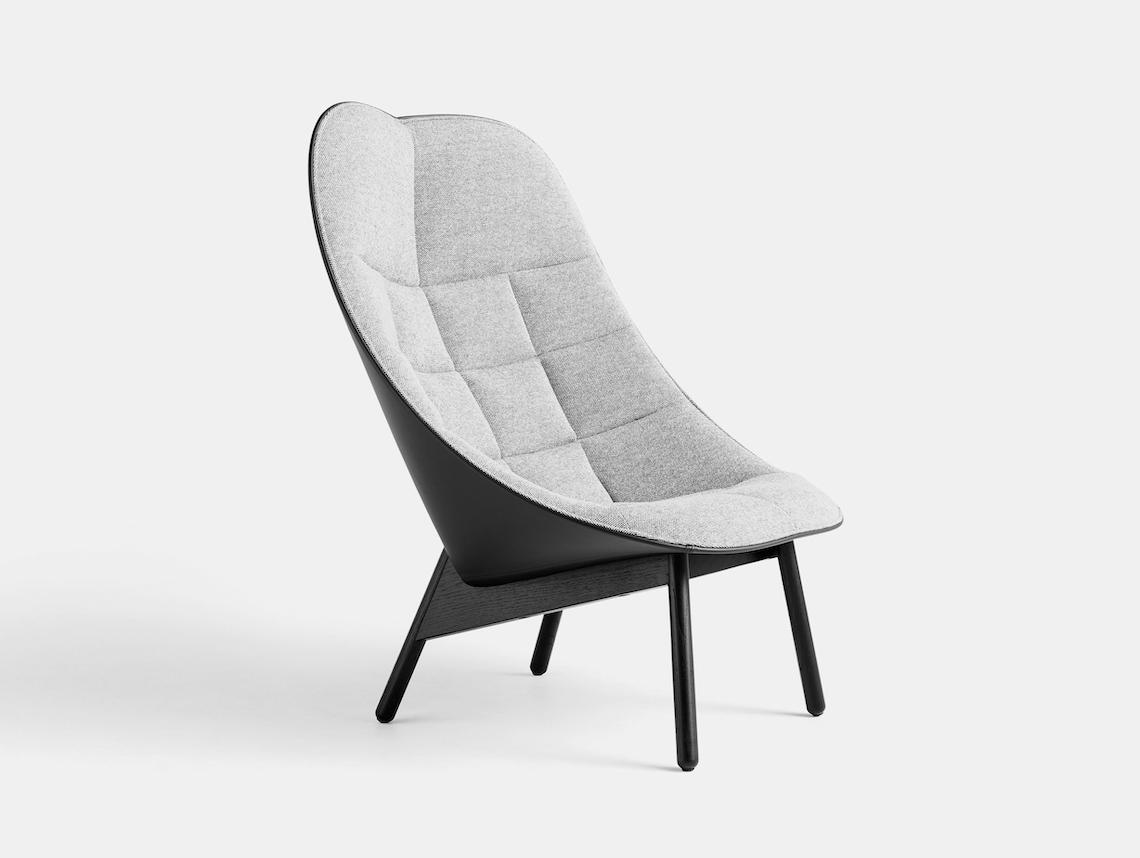 Hay Uchiwa Quilt Lounge Chair Hallingdal 126 Sierra SI1001 oak base Doshi Levien