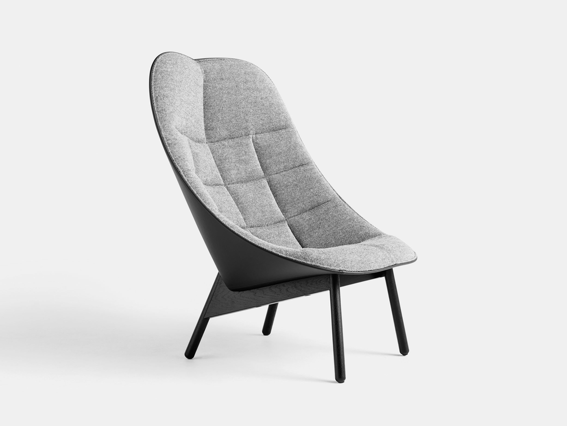 Hay Uchiwa Quilt Lounge Chair Hallingdal 166 Sierra SI1001 oak base Doshi Levien