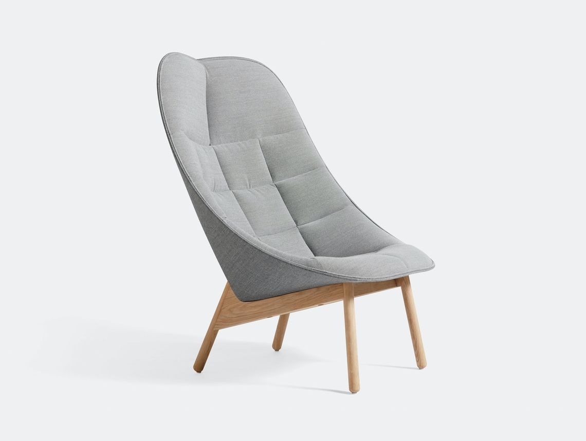 Hay Uchiwa Quilt Lounge Chair Steelcut Trio 133 Remix 143 oak base Doshi Levien
