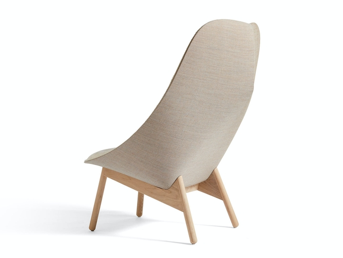 Hay Uchiwa Quilted Chair back Canvas 244 matt lacquer oak base