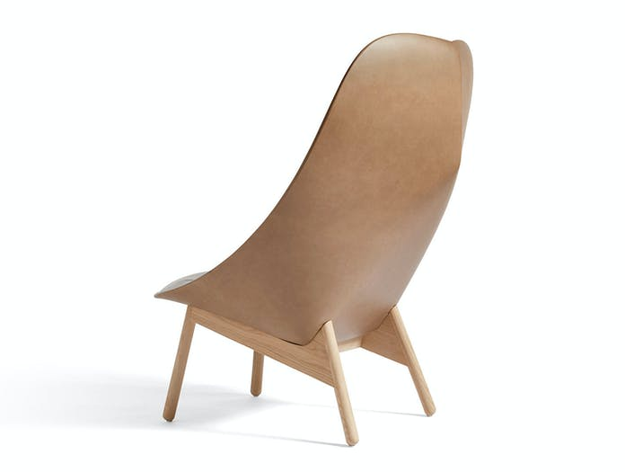 Hay Uchiwa Quilted Chair back Silk SIL0258 matt lacquer oak base