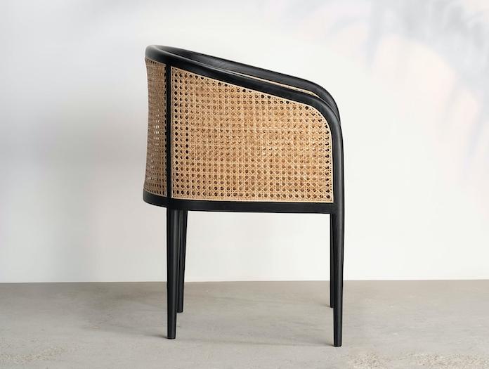 Kam Ce Kam Mera Chair black ash side