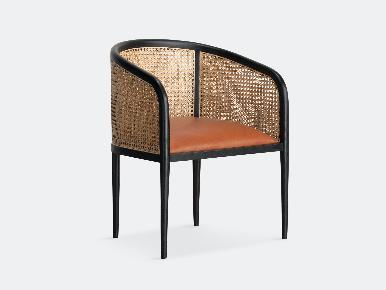 Kam Ce Kam Mera Chair black ash tan leather