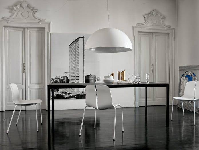 Lapalma Frame Table dining black rectangular Romano Marcato