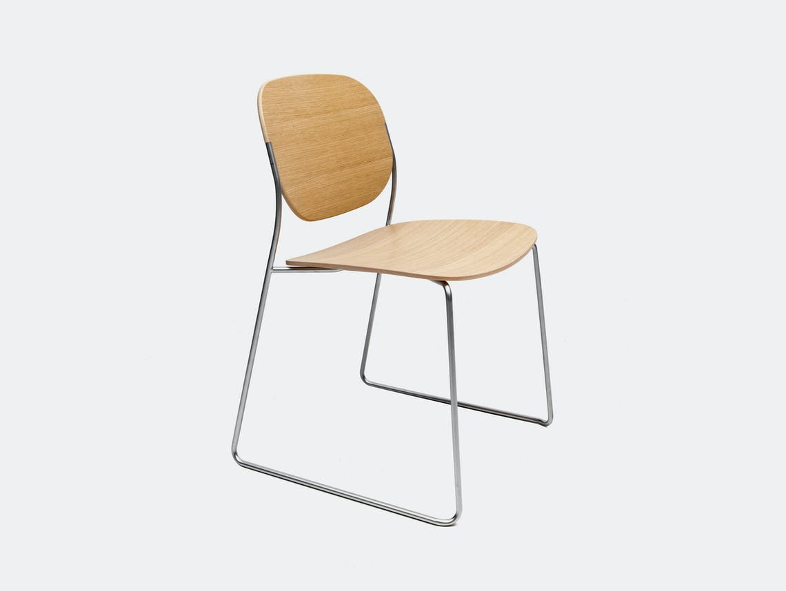 Lapalma Olo Chair oak stainless steel Francesco Rota
