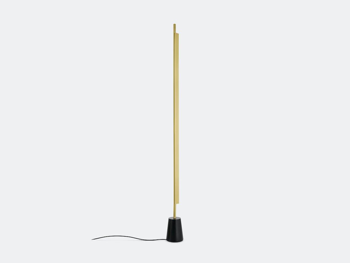 Luceplan Compendium Floor Light Brass Daniel Rybakken