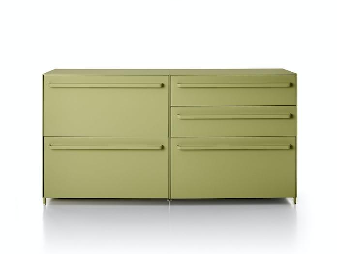 MDF Italia Handle Sideboard green Bruno Fattorini