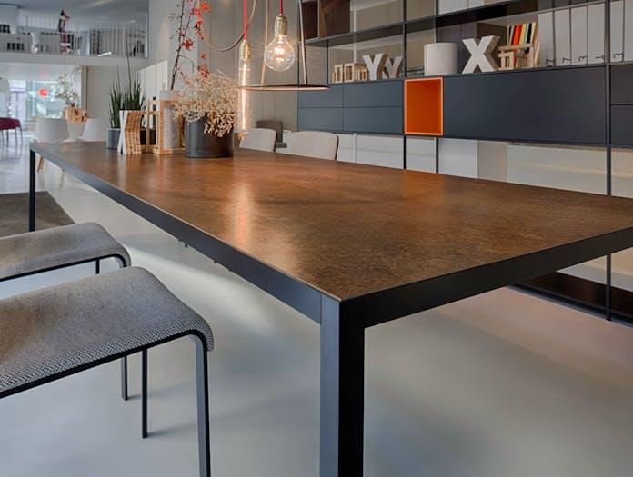 MDF Italia LIM 3 0 Table corten ceramic top Bruno Fattorini