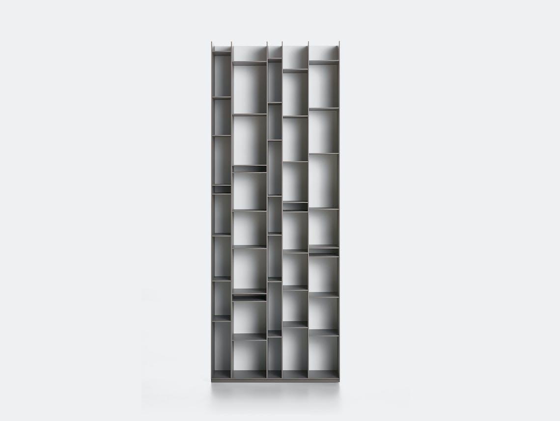 MDF Italia Random Shelves medium grey white back Neuland Industriedesign