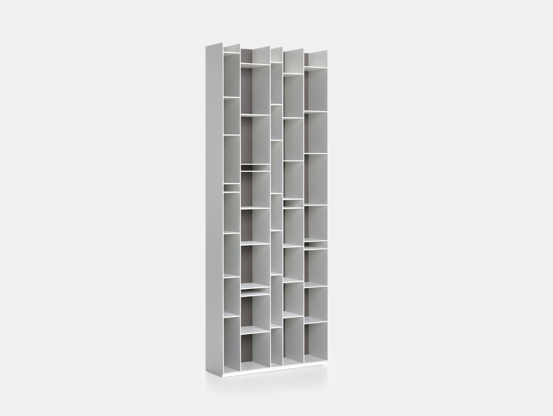 MDF Italia Random Shelves white med grey back Neuland Industriedesign