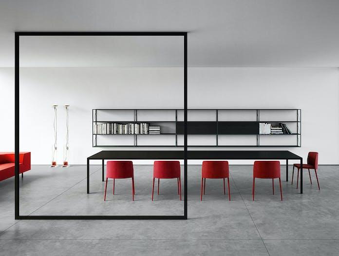 MDF Italia Tense Table System black Piergiorgio Cazzaniga