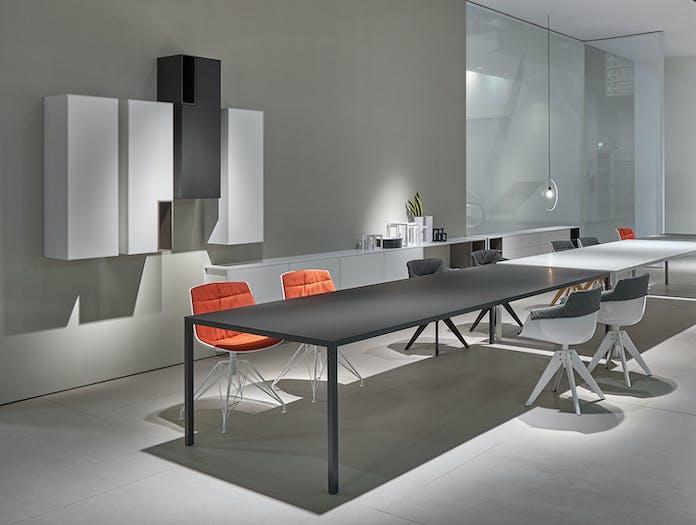 MDF Italia Tense Table System black white Piergiorgio Cazzaniga
