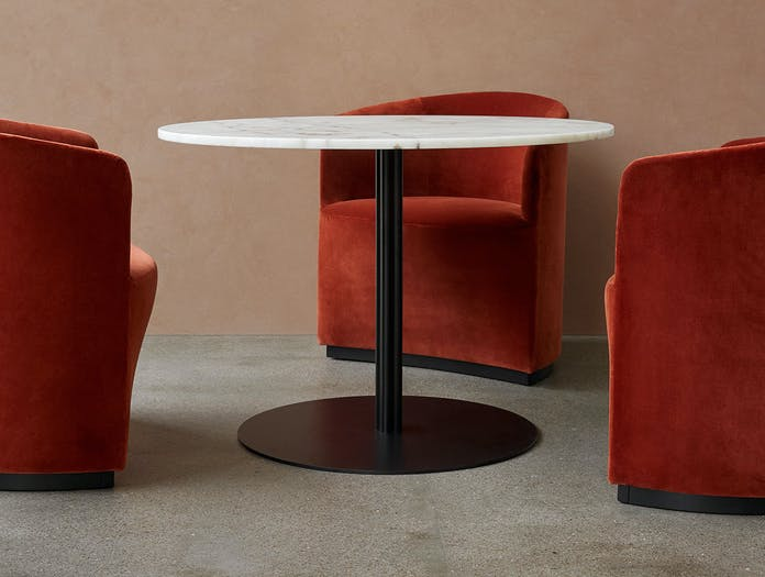 MENU Tearoom Club Chair Harbour Column Dining Table