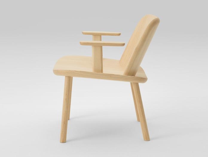Maruni Fugu Chair Ash With Arms Side Jasper Morrison