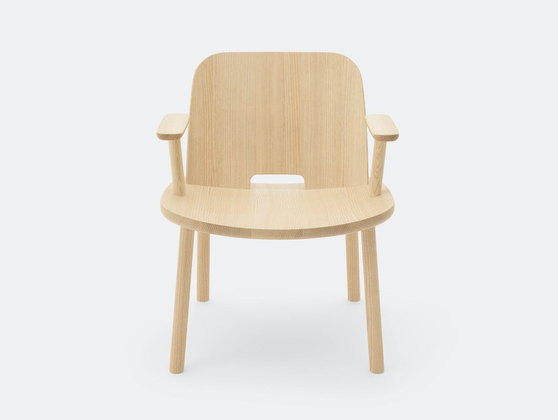 Maruni Fugu Chair Oak With Arms Jasper Morrison