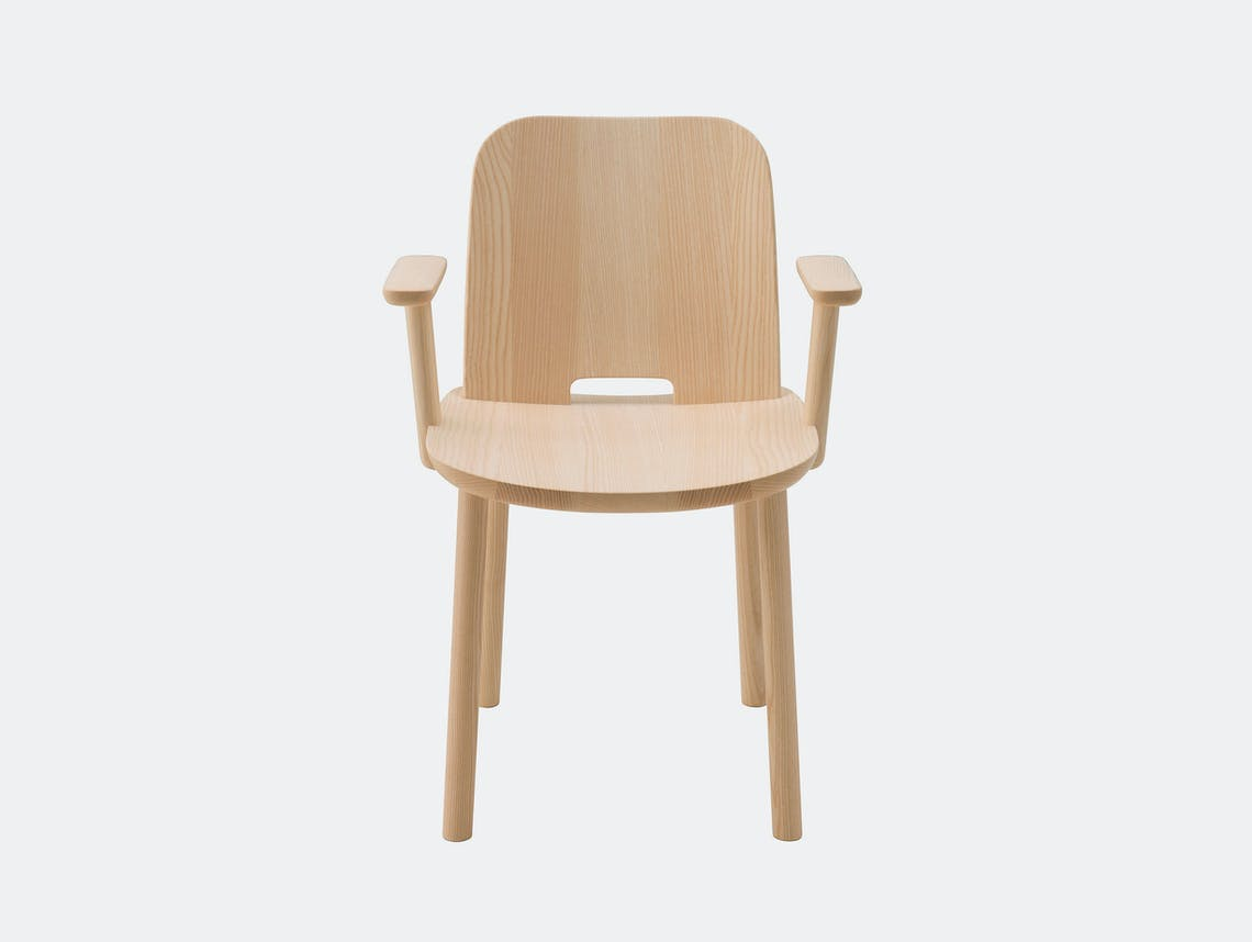 Maruni Fugu Dining Chair with arms Jasper Morrison