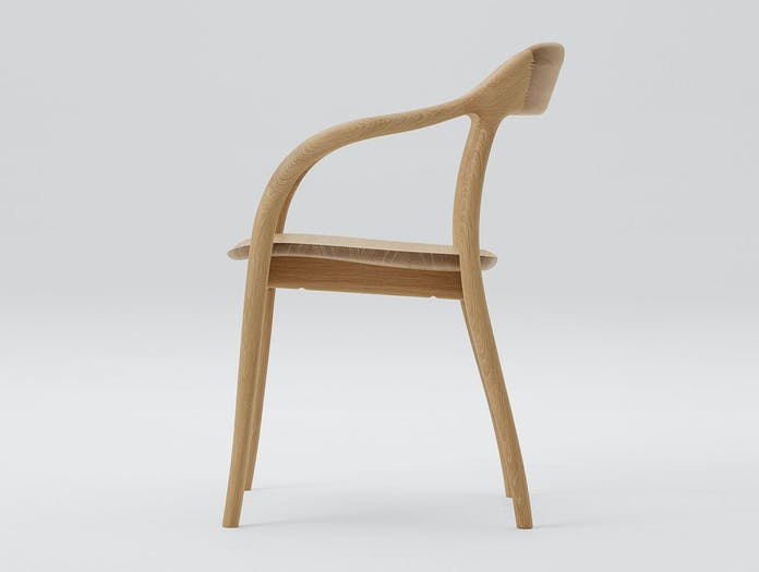 Maruni Tako Chair Oak side Naoto Fukasawa