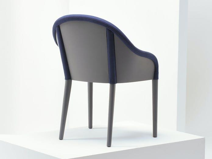 Mattiazzi Bienvenue Chair grey stained ash frame back Inga Sempe