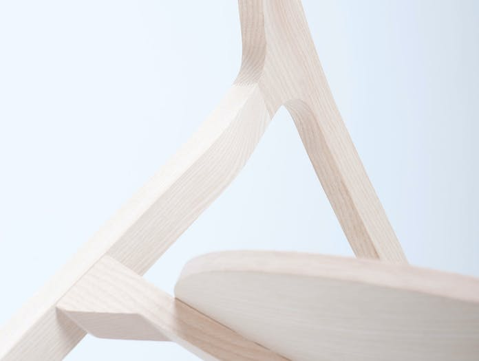 Mattiazzi He Said Chair white ash detail Nitzan Cohen
