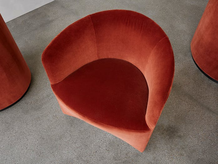 Menu Tearoom Club Chair top detail Nick Ross
