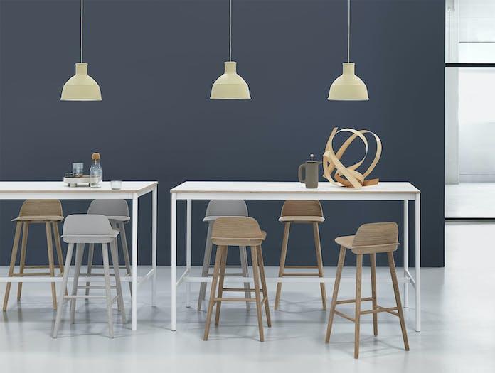Muuto Base High Table White Plywood Unfold Beige Green Nerd Bar Stool grey Oak Corky Platform Tray Push