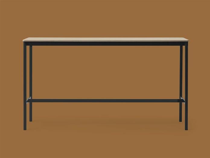 Muuto Base high table 50x190 h105 oak veneer black