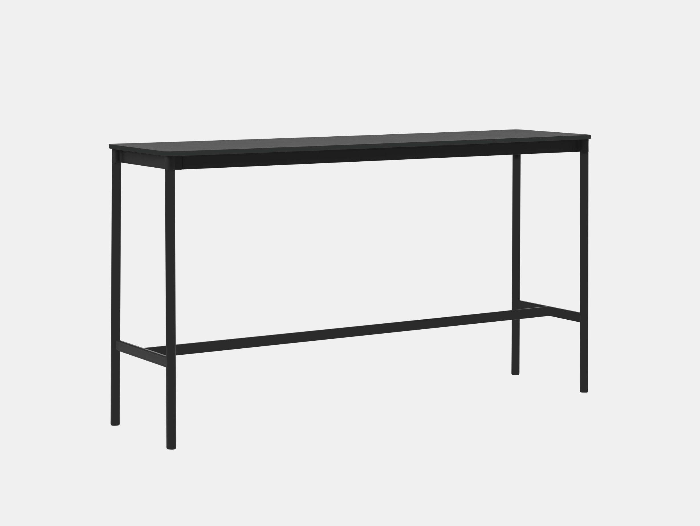 Muuto Base high table 50x190xh105 black ABS black frame