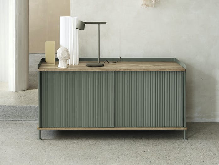 Muuto Enfold Sideboard Low Green Oak Thomas Bentzen