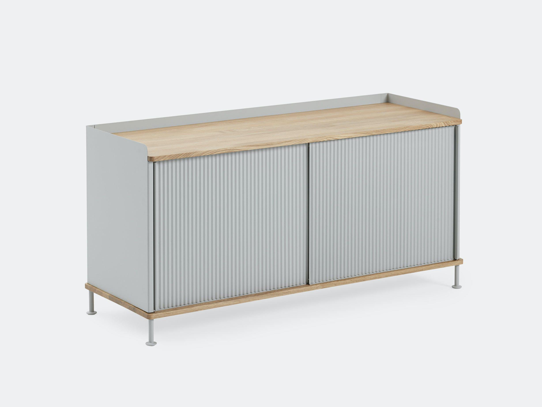 Muuto Enfold Sideboard Low Grey Oak Thomas Bentzen