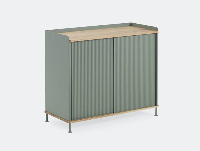 Muuto Enfold Sideboard Tall Green Oak Thomas Bentzen