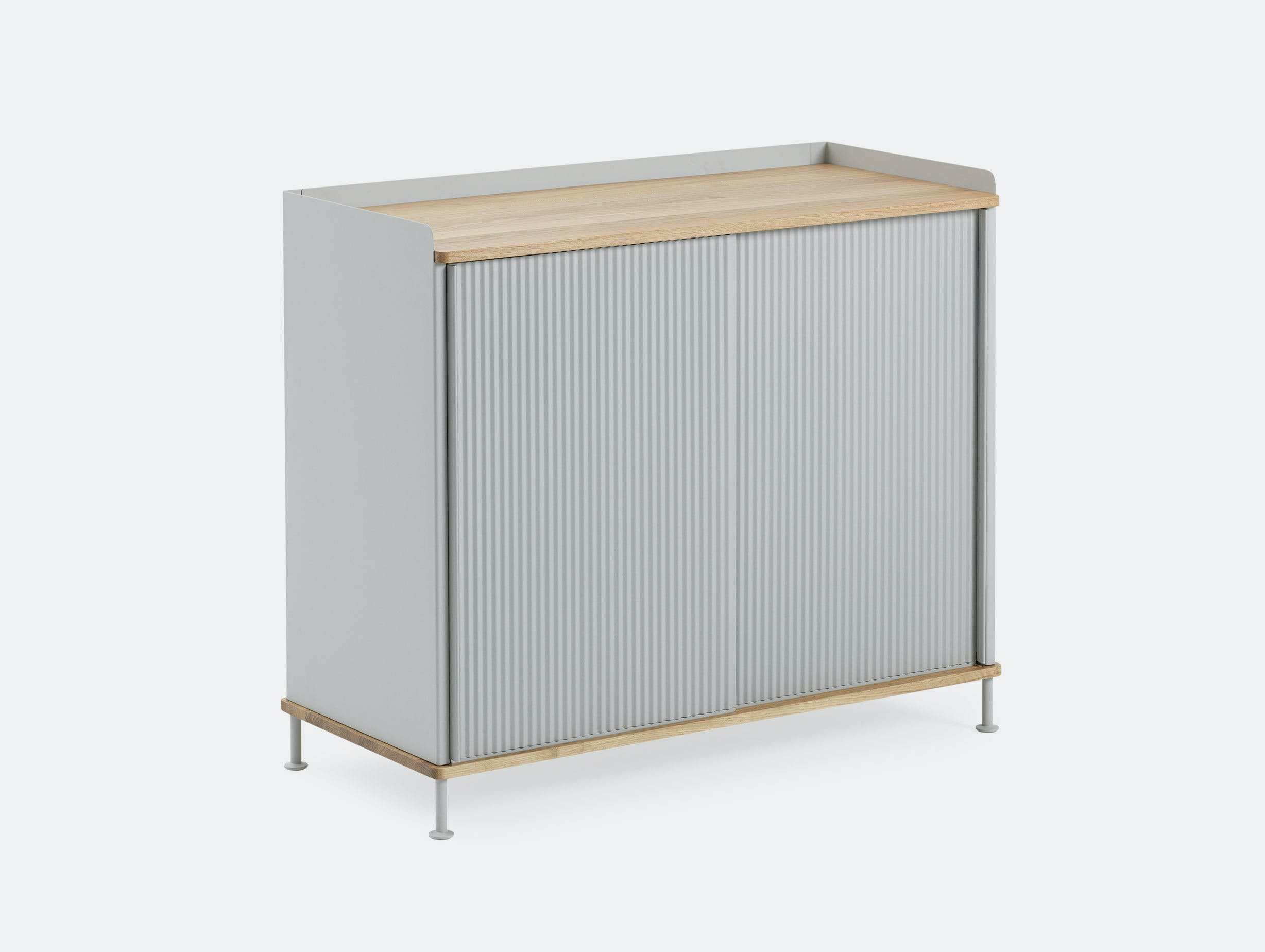 Muuto Enfold Sideboard Tall Grey Oak Thomas Bentzen