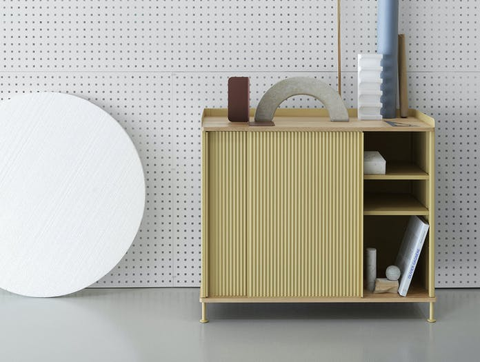 Muuto Enfold Sideboard Tall Yellow Oak Thomas Bentzen