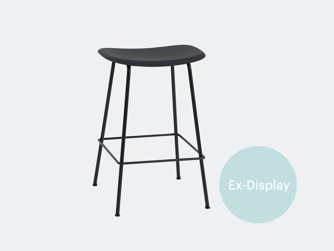 Muuto Fiber counter stool black ex display