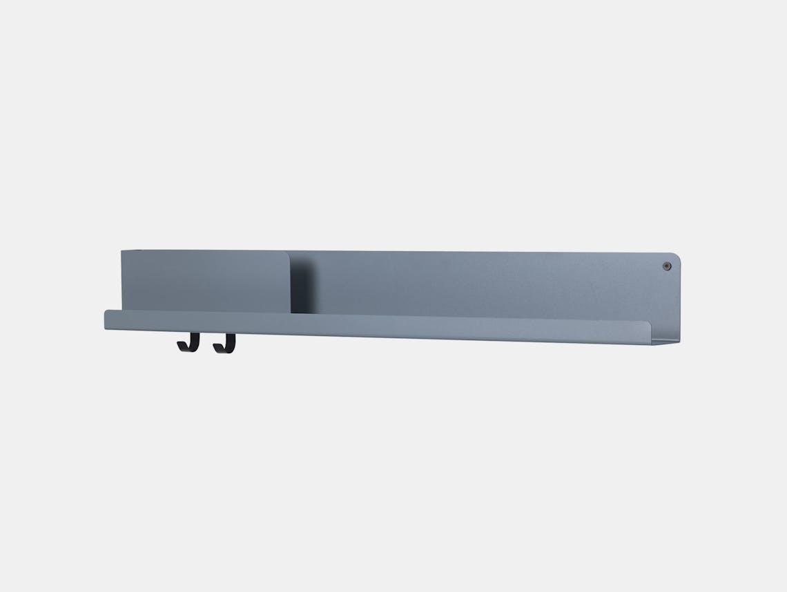 Muuto Folded shelf long blue grey Johan van Hengel