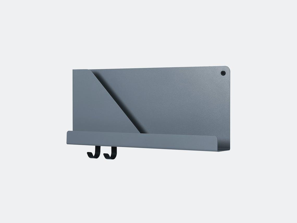 Muuto Folded shelf short blue grey Johan van Hengel
