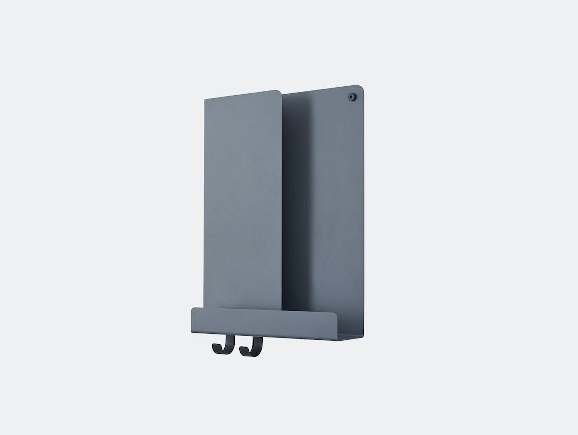 Muuto Folded shelf tall blue grey Johan Van Hengel