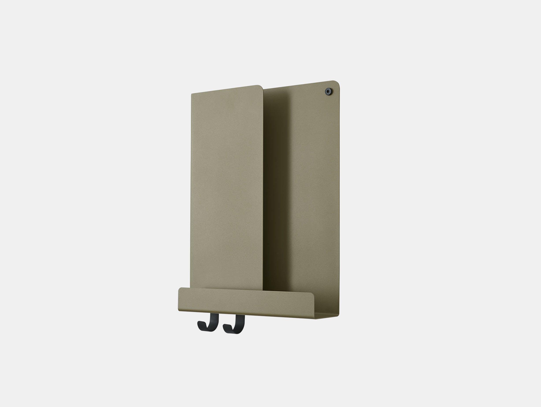 Muuto Folded shelf tall olive s Johan Van Hengel