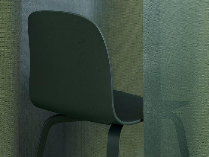 Muuto Visu Chair wood base dark green 1