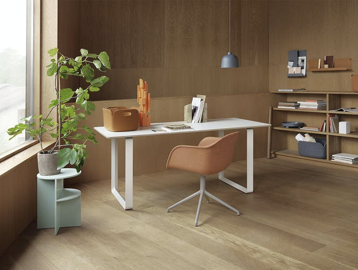 Muuto fiber arm chair swivel remix 2 452 7070 table halves side table grain folded restore platform tray
