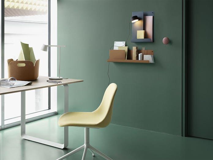 Muuto fiber side chair swivel balder 432 white 70 70 table tip lamp folded shelves post wall lamp