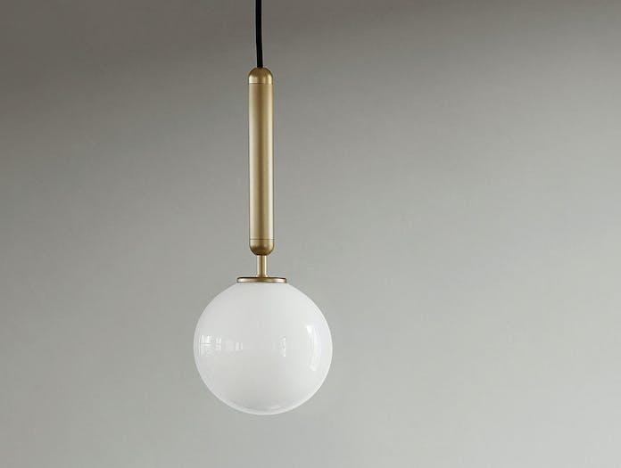 Nuura Miira 1 Pendant Light 2 brass opal glass Sofie Refer