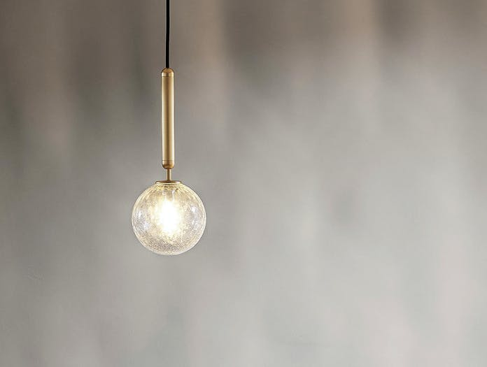Nuura Miira 1 Pendant Light 2 brass optic glass Sofie Refer