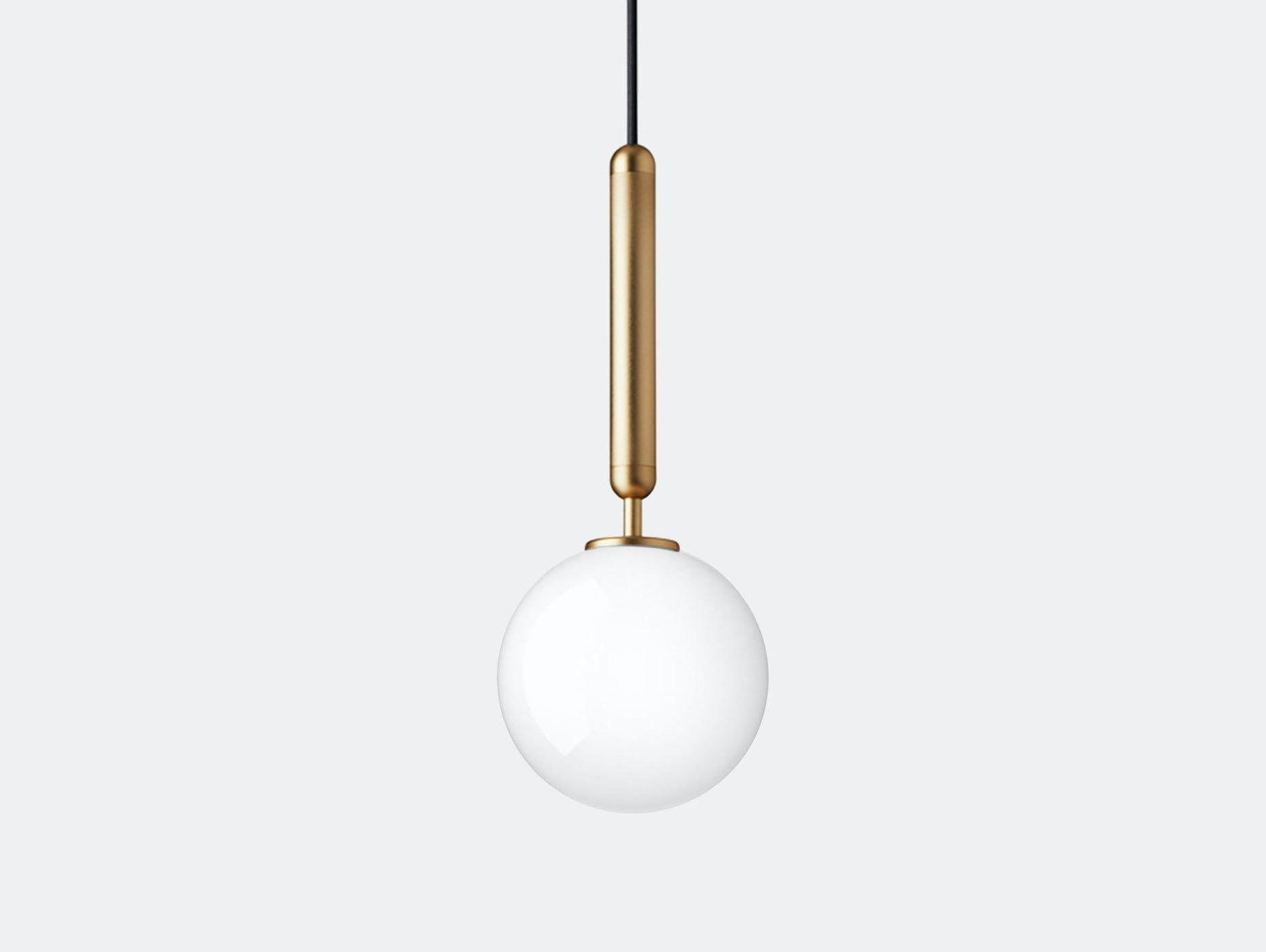 Nuura Miira 1 Pendant Light brass opal glass Sofie Refer