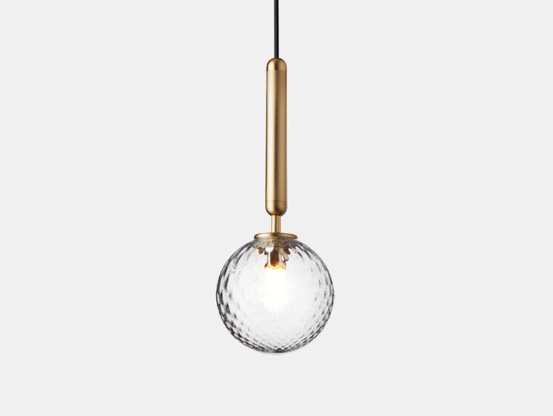 Nuura Miira 1 Pendant Light brass optic glass Sofie Refer