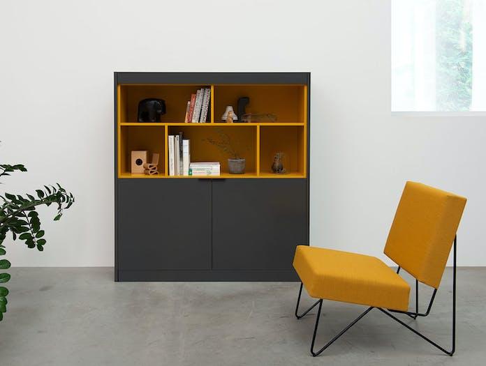 Pastoe L Maze cabinet with open shelves