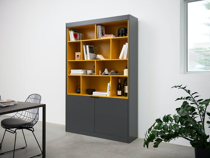 Pastoe L Maze high cabinet with open shelves